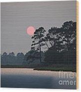 Fenwick Island Delaware Sunset Wood Print