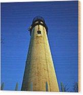 Fenwick Island Lightouse And Blue Sky Wood Print