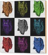 Feral Cat - 9905 F M -v2 Wood Print