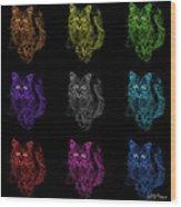 Feral Cat Pop Art - 9905 F M - Bb Wood Print