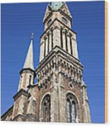 Ferencvaros Church Tower In Budapest Wood Print