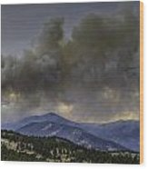 Fern Lake Fire Wood Print by Tom Wilbert