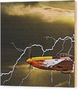 Ferocious Frankie In A Storm Wood Print by Meirion Matthias