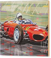 Ferrari 156 Dino British Gp1962 Phil Hill Wood Print