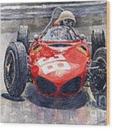 Ferrari 156 Sharknose Phil Hill Monaco 1961 Wood Print