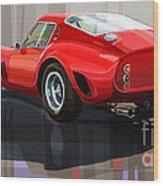 Ferrari 250 Gto Wood Print