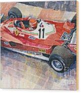 Ferrari 312 T2 Niki Lauda 1977 Monaco Gp Wood Print