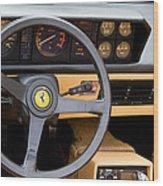 Ferrari 3.2 Mondial Cabriolet Interior Wood Print