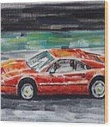 Ferrari 328 Wood Print
