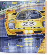 Ferrari 512 S Spa 1970 Derek Bell  Wood Print by Yuriy  Shevchuk
