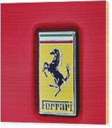 Ferrari Badge Wood Print