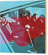 Ferrari Cockpit Wood Print