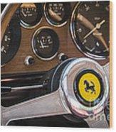 Ferrari Dash Wood Print