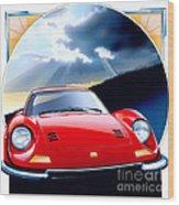 Ferrari Dino Wood Print