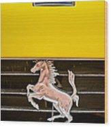 Ferrari Dino Grille Emblem -0750c Wood Print