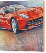 2014 Ferrari F12 Berlinetta  Wood Print