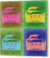 Ferrari Front Pop Art 3 Wood Print by Naxart Studio
