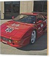 Ferrari Garage Wood Print