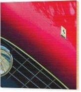 Ferrari Grille Emblem - Headlight Wood Print