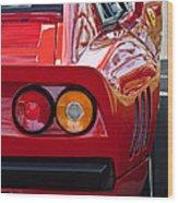 Ferrari Gto 288 Taillight -0631c Wood Print