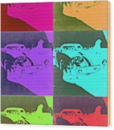 Ferrari Gto Pop Art 3 Wood Print by Naxart Studio
