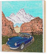 1969 Ferrari 365 G T C In The Mountains 1969 365 G T C Wood Print