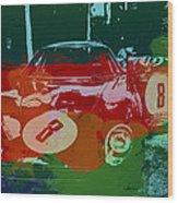 Ferrari Laguna Seca Racing Wood Print