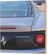 Ferrari Rear Emblem - Taillights -0089c Wood Print