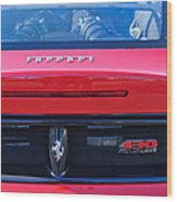 Ferrari Scuderia 430 Rear Emblems Wood Print