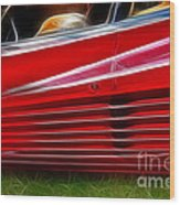 Ferrari Testarossa Red Wood Print