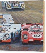 Ferrari Vs Porsche 1970 Watkins Glen 6 Hours Wood Print