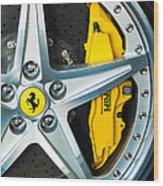 Ferrari Wheel 3 Wood Print