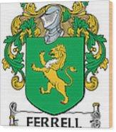 Ferrell Coat Of Arms Longford Ireland Wood Print