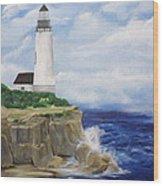 Ferrels Lighthouse Wood Print