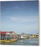 Ferries At Koh Rong Island Pier In Cambodiaferries At Koh Rong I Wood Print