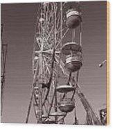 Ferris Wheel 1 Wood Print