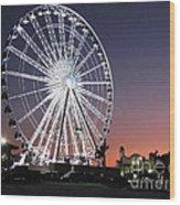 Ferris Wheel 19 Wood Print
