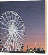 Ferris Wheel 21 Wood Print