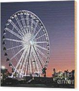 Ferris Wheel 23 Wood Print