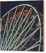 Ferris Wheel After Dark Wood Print