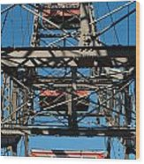 Ferris Wheel At Vienna Prater Wood Print
