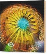 Ferris Wheel Flower Wood Print
