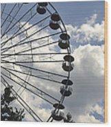 Ferris Wheel In The Sky Wood Print
