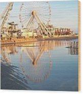 Ferris Wheel Jersey Shore 2 Wood Print