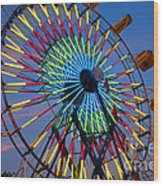 Ferris Wheel, Kentucky State Fair Wood Print