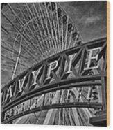 Ferris Wheel Navy Pier Wood Print