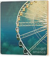 Ferris Wheel Old Photo Wood Print