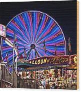 Ferris Wheel Rides And Games Wood Print
