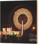 Ferris Wheel Spin Wood Print