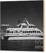 Ferry And Dock At Fort Jefferson Dry Tortugas National Park Florida Keys Usa Wood Print by Joe Fox